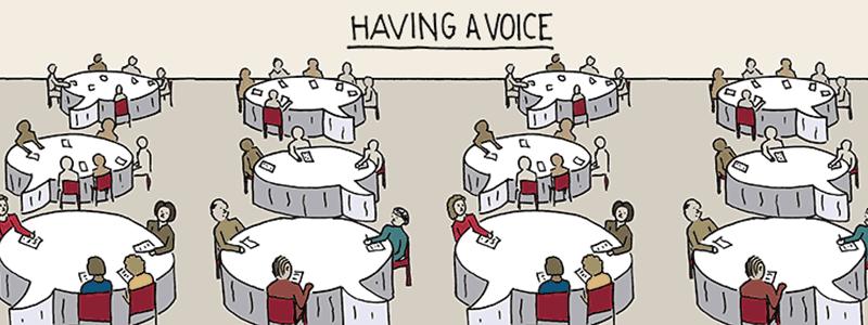 Caption: Having a Voice